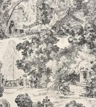 Casadeco - Chantilly 36-CHT22979528 Toile de Jouy grau Vlies