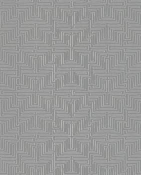 Siroc Eijffinger 55-376068 Labyrinth Muster mittel-grau Vliestapete