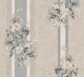 23-104929 Ambrosia Rasch Textil Blumentapete Barock beige