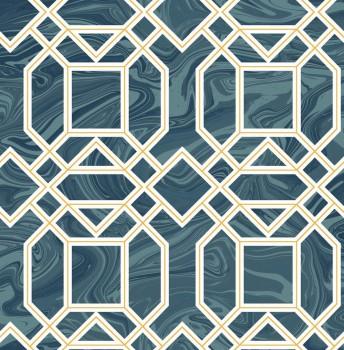 23-024222 Gravity Rasch Textil Vliestapete Muster blau Retro