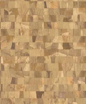 23-229348 Rasch Textil Abaca ockerbraun kariert Mustertapete