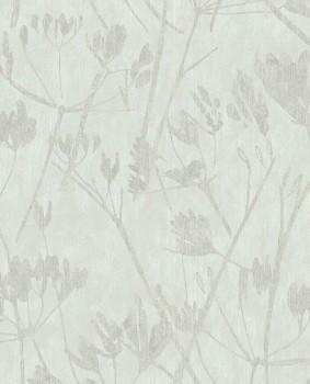 55-379051 Eijffinger Lino Vliestapete Mintgrün Blumen grau
