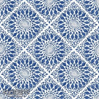23-148612 Cabana Rasch Textil Vliestapete Blüten dunkel-blau