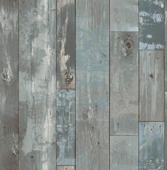 Rasch Textil Restored 23-024053 grau Vlies Tapete Holz Latten