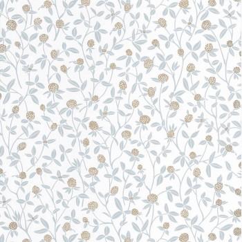 Caselio - Hygge 36-HYG100567321 non-woven wallpaper flowers light blue gold