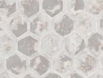 Ambrosia Rasch Textil 23-107601 Vliestapete Waben grau