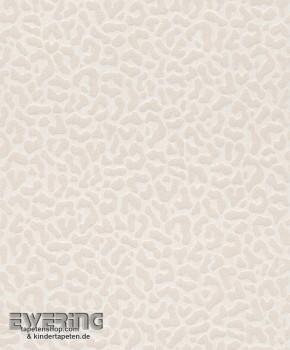 23-077420 Cassata Rasch Textil creme-grau Leopardenmuster Tapete