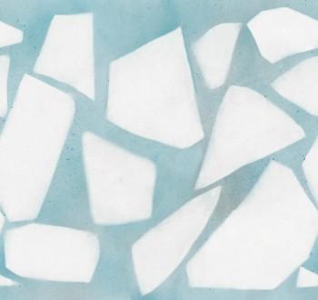 Hellblau Muster-Wandbild Vlies Tenue de Ville SAUDADE 62-SAUD211415