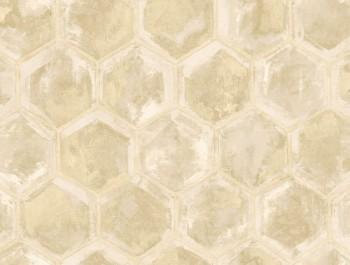 23-107600 Ambrosia Rasch Textil Tapete Wabenoptik beige