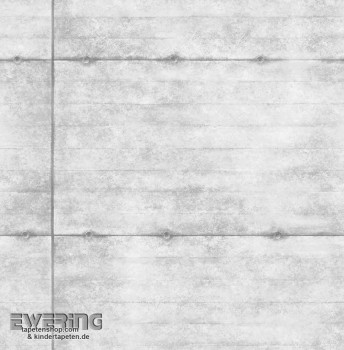23-022303 Reclaimed Rasch Textil Stahlplatten Vlies-Tapete grau