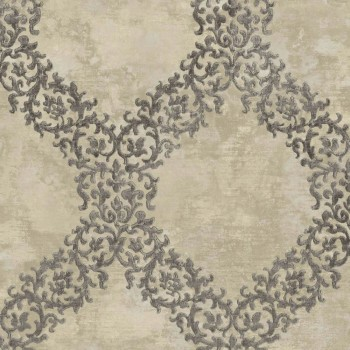 23-109841 Concetto Rasch Textil Tapete kariert beige Muster