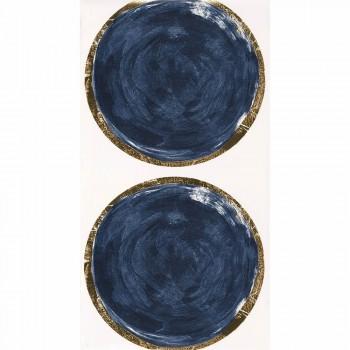 Kreise Blau Vliestapete
