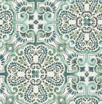 Rasch Textil Restored 23-024044 grün Malerei Tapete Ornamente