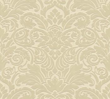 33583-1 Velourtapete Castello AS Creation elfenbein Ornamente Verzierung