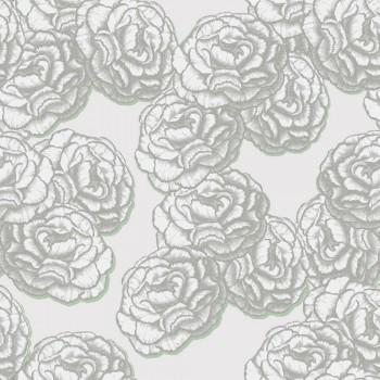 Blumen-Tapete Silber Schimmer 62-BLS200504 Tenue de Ville BALSAM