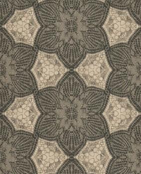 55-376057 Eijffinger Siroc beige-braun Blumen Schwarz Vlies-Tapete