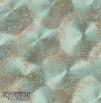 Rasch Textil Reclaimed 23-022340 türkis Kreisformen Vliestapete