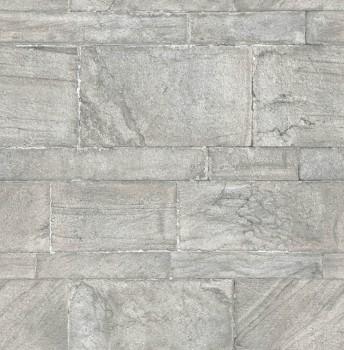 Rasch Textil Restored 23-024023 grau Mauer Optik Vlies Tapete
