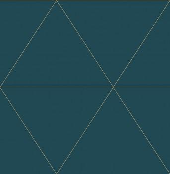 23-024228 Gravity Rasch Textil Vliestapete petrol Grafik Dreieck