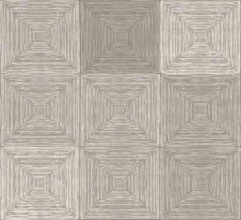 Ambrosia Rasch Textil 23-107651 Mustertapete kariert sandgrau