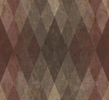 23-107628 Ambrosia Rasch Textil Tapete Karomuster weinrot