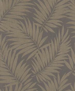 7-527575 Rasch BARBARA home Vliestapete dunkel-grau glänzend Blätter