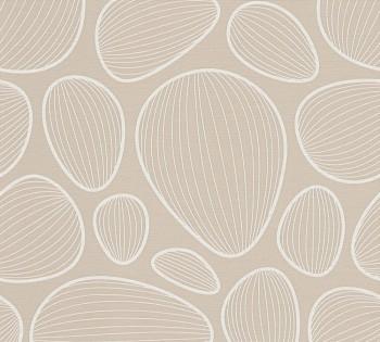 34122-1 Vliestapete Contzen Artist Ed.No.1 AS Creation Muscheln sand-grau