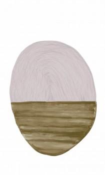 Wandbild Oval Zartrosa Braun 62-SAUD211608 Tenue de Ville SAUDADE