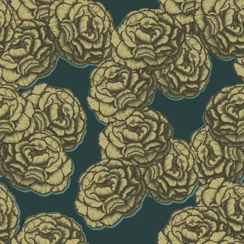 Tapete Blumen Gold Grün Vlies Tenue de Ville BALSAM 62-BLS200502