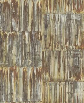 Rasch Textil Restored 23-024063 metallic Tapete Metall braun Rost