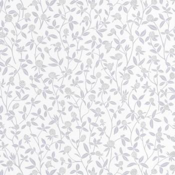 36-HYG100569027 Caselio - Hygge non-woven wallpaper flower tendrils gray silver