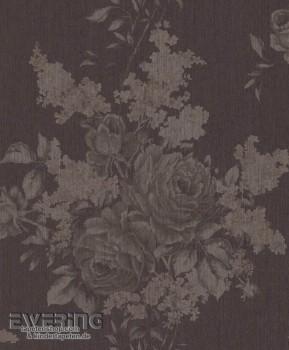 23-077529 Cassata Rasch Textil Textiltapete Blumen dunkel-braun
