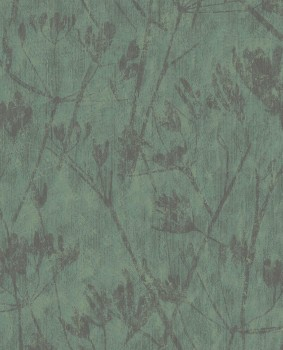 Eijffinger Lino 55-379054 Vliestapete Blumenmuster Dunkelgrün
