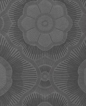 55-388753 Vliestapete Blumenmuster Glasperlen dunkelbraun Eijffinger Lounge