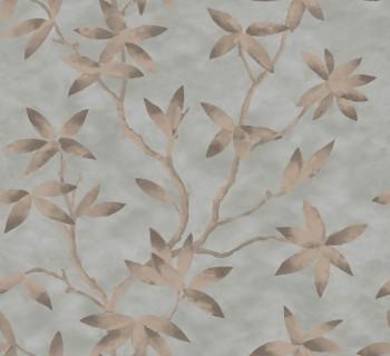 Capri Rasch Textil 23-200704 Tapete betongrau Blumenranken Papier