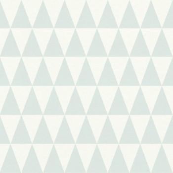 Boho Chic Rasch Textil 23-148669 Tapete fjordgrün Dreiecke