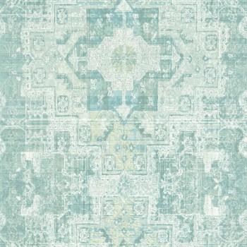 Rasch Textil Boho Chic 23-148658 Grafiktapete fjordgrün Vlies