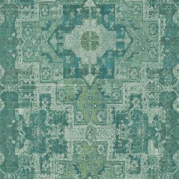 23-148659 Boho Chic Rasch Textil Tapete jadegrün Grafikmuster