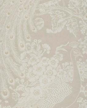 Reflect Eijffinger 55-378007 rosa beige Pfau glänzend Vliestapete