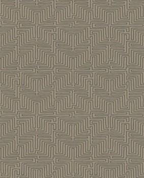 Siroc Eijffinger 55-376062 sand-grau Vlies Tapete Labyrinth