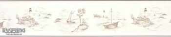 Texdecor Casadeco - Marina 36-MRN25131433 Vlies-Borte Boote weiß