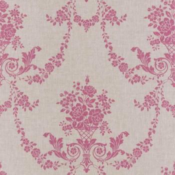 Caselio - Faro Texdecor 36-FAO69054013 Tapete Blumenranken pink