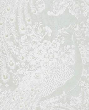 55-378008 Eijffinger Reflect wallpaper non-woven wallpaper peacock mint-green shining