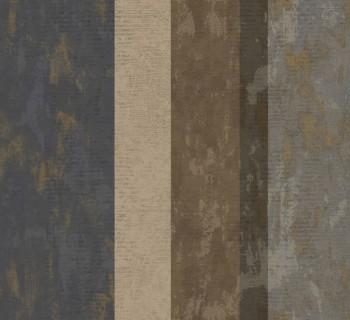 Ambrosia Rasch Textil 23-107637 Tapete gestreift blau braun