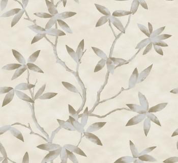 Capri Rasch Textil 23-200701 Blumentapete Ranken hellelfenbein