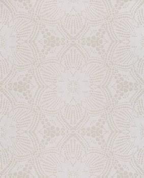 Siroc Eijffinger 55-376056 creme-weiß perlmutt Blumen Vlies Tapete