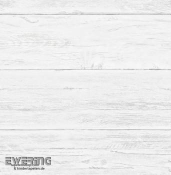 23-022307 Reclaimed Rasch Textil Holzlatten weiß Vlies-Tapete