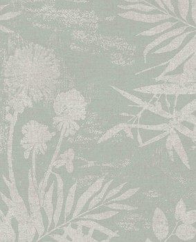 Eijffinger Lino 55-379032 non-woven wallpaper floral pattern mint green