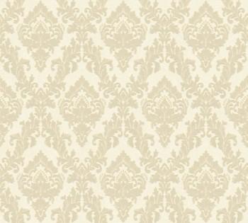 AS Creation Castello 33582-2, 335822 creme kleine Ornamente Velour-Tapete