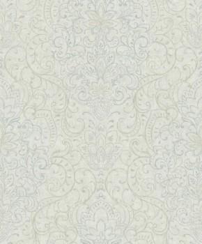 37-OR3305 Grandeco Origine mint-green non-woven wallpaper tendrils flowers